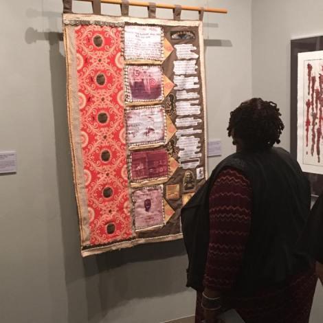 Artist Ann Johnson, also in the show