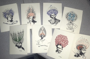 Just A Crown series note cards by Jas Mardis