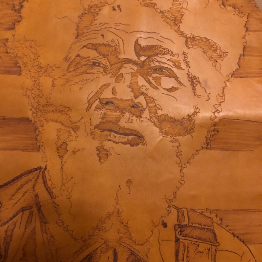 Pyrography on Leather