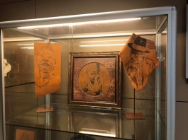 Leather Pyrography Free Standing Portraits